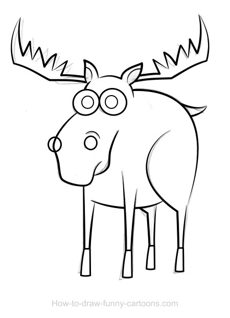 Moose drawings sketching vector for How to draw a moos