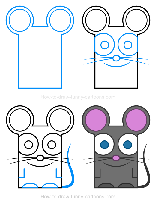 How to Draw a Mouse Clipart