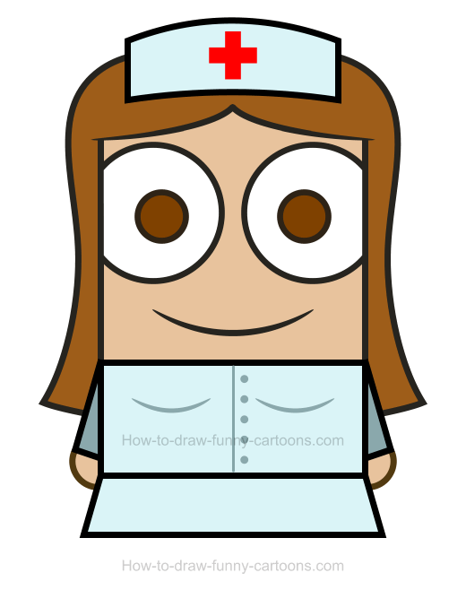 How To Draw A Nurse Clipart