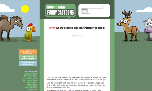 How-to-draw-funny-cartoons old website designs