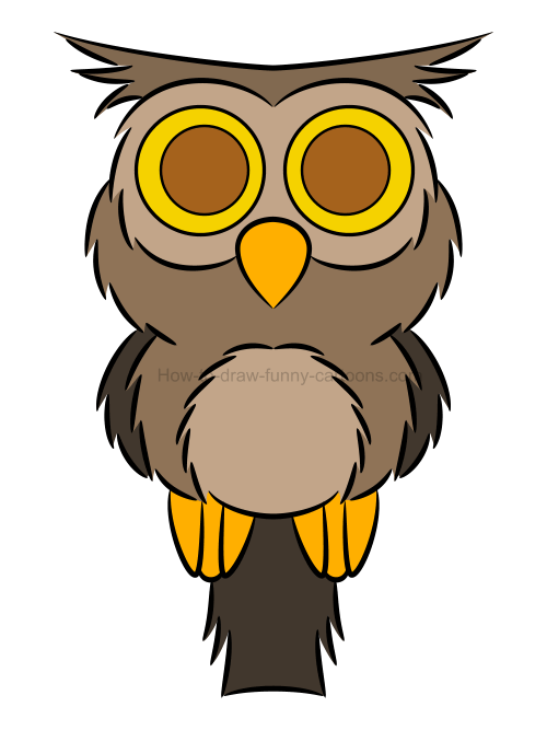 How to draw an owl clip art