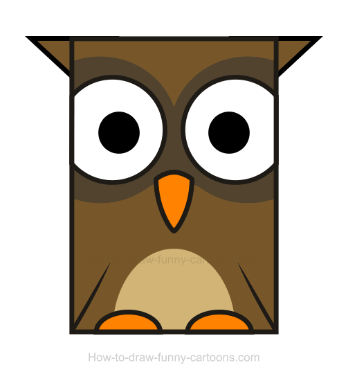 Owl clipart for Owl beak drawing