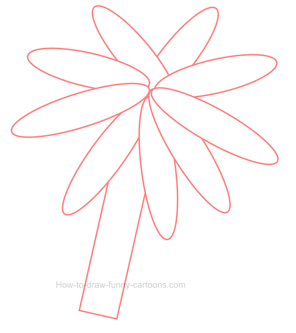 How to draw a palm tree clip art