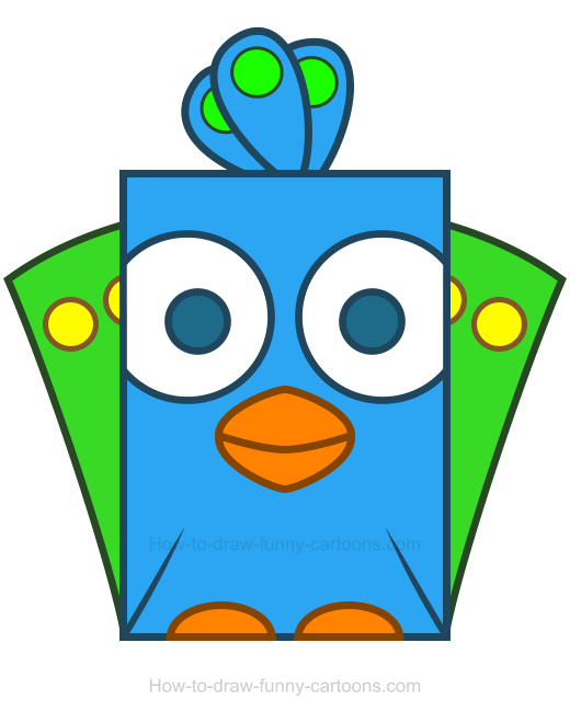 Cute animal peacock. Clipart