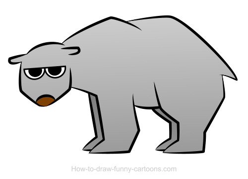how to draw a simple bear
