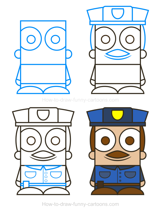 How To Draw A Police Clipart