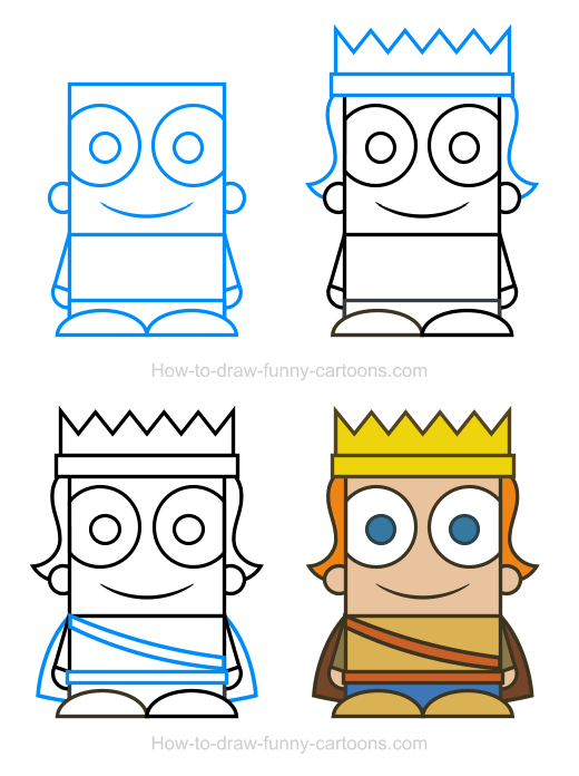 How To Draw A Prince Clipart