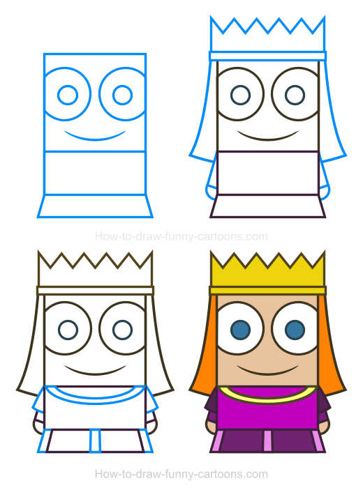 How To Draw A Princess Clipart