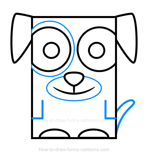 How to Draw a Puppy Clipart
