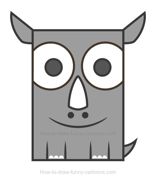 How To Draw A Rhino Clipart