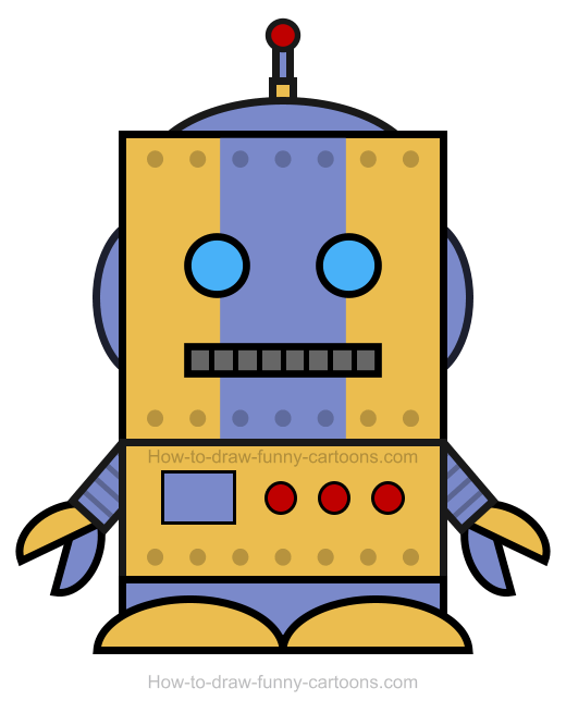 robot clipart rh how to draw funny cartoons com robot clip art animated robot clip art face emotions