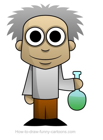 Scientist drawing (Sketching + vector)
