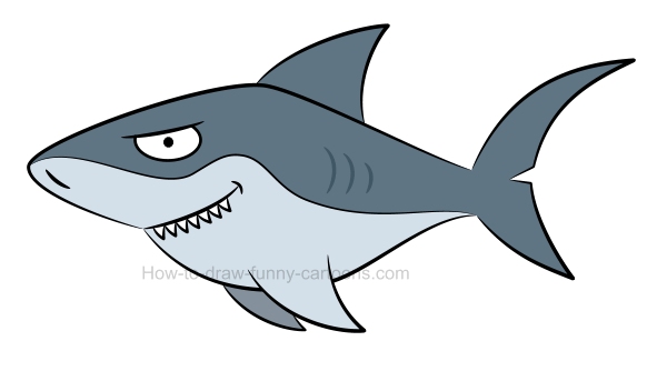 How to draw a shark picture