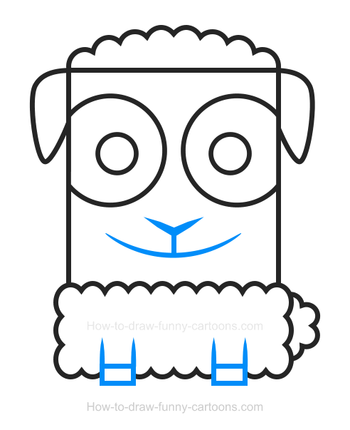 How To Draw A Sheep Clipart