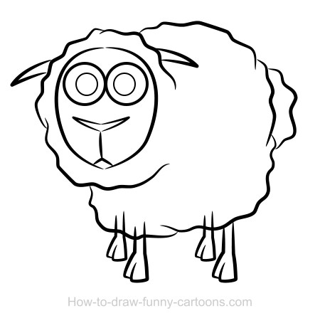 sheep drawing sketching vector