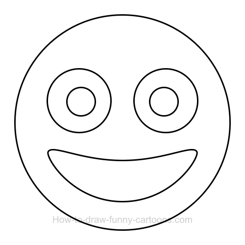 how to draw a smiley face clip art
