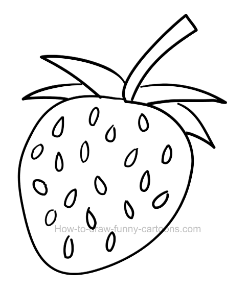 How To Draw A Strawberry Clip Art