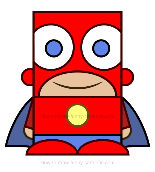 How To Draw A Superhero Clipart