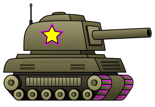 How to draw a tank cartoon