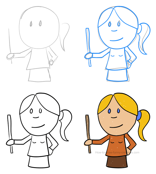 How to draw a teacher pictures & video