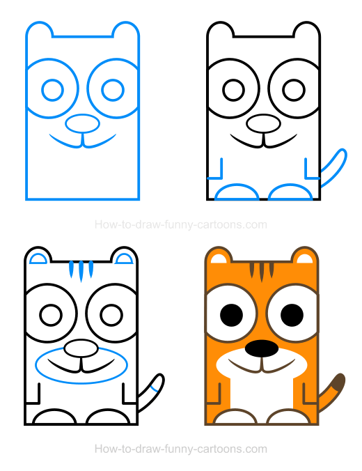 How To Draw A Tiger Clipart