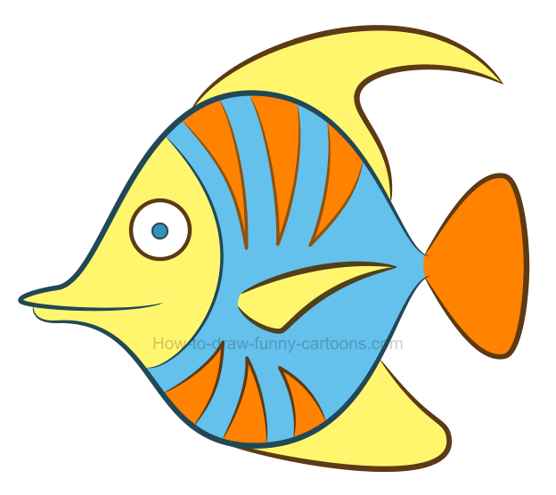 how to draw a tropical fish clipart rh how to draw funny cartoons com clip art fish border clip art fishing pole