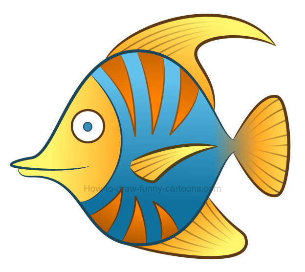 how to draw a tropical fish clipart rh how to draw funny cartoons com fish pics clipart fish images clip art free