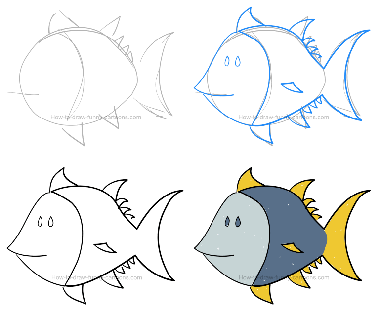 How to draw a tuna pictures & video
