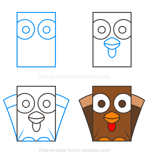 How To Draw A Turkey Clipart