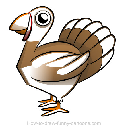Funny Cartoon Turkeys Turkey drawing (Sketch...