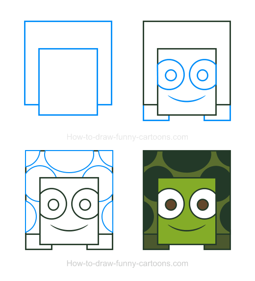 How To Draw A Turtle Clipart