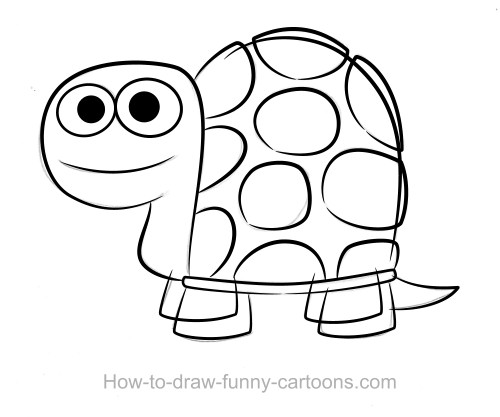 Turtle drawings Sketching vector