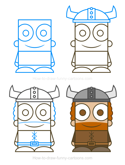 How To Draw A Viking Clipart