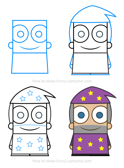 How To Draw A Wizard Clipart