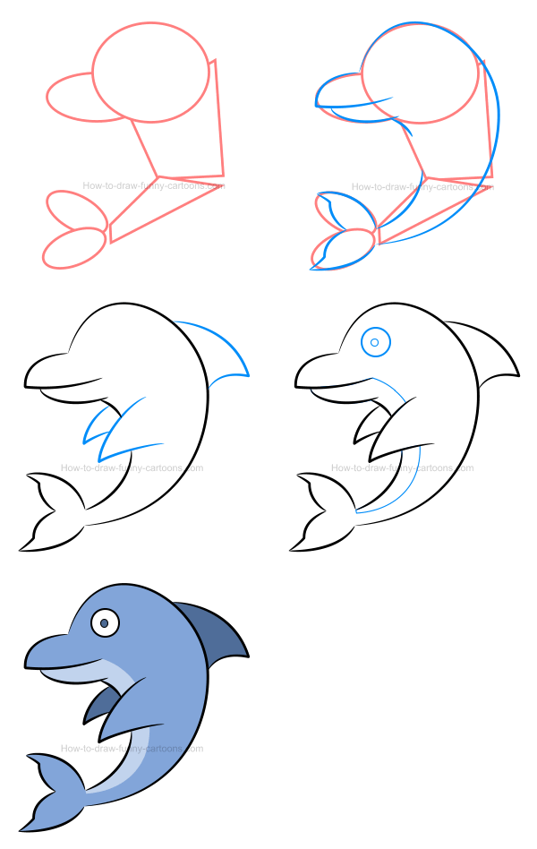 Vector illustrations : dolphin