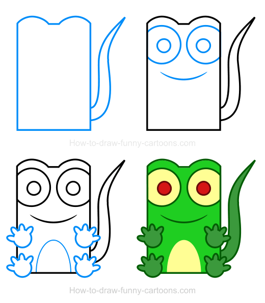 How to Draw a Lizard Clipart