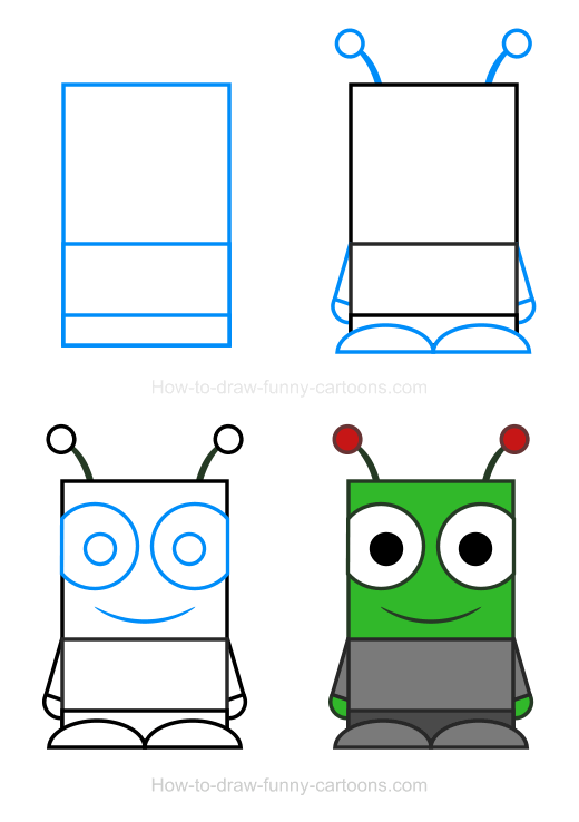 How To Draw An Alien Clipart