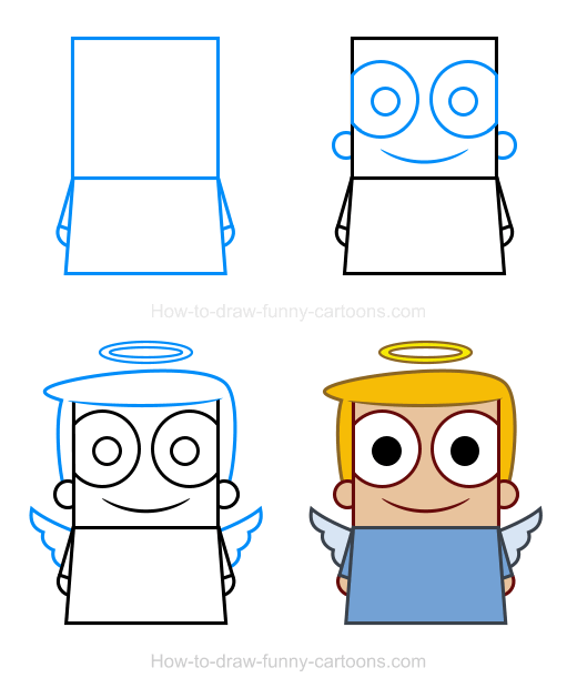 How To Draw An Angel Clipart