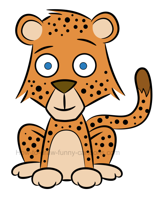 How to draw a baby cheetah