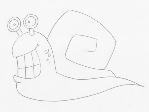 How to draw baby snails