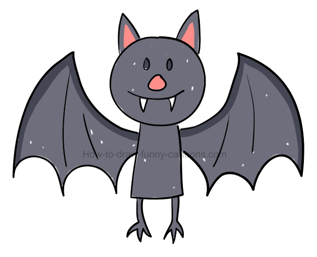How to draw a bat pictures & video