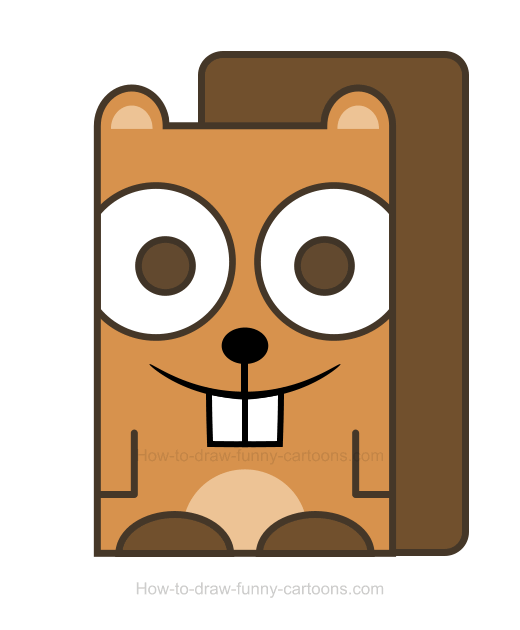 How to Draw a Beaver Clipart