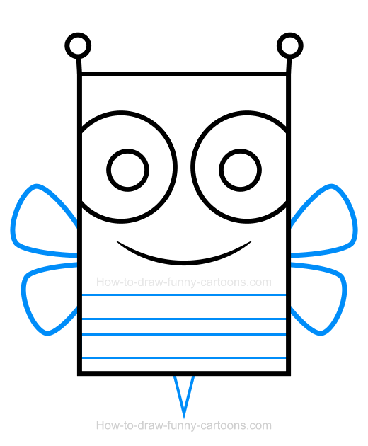 How to Draw a Bee Clipart