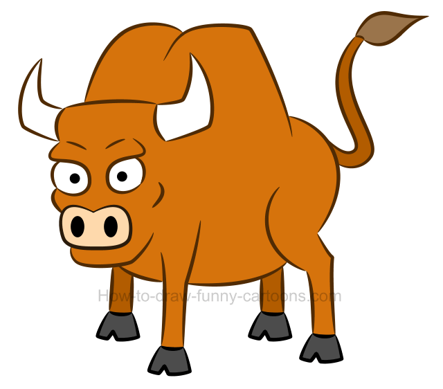How to draw a bull clip art