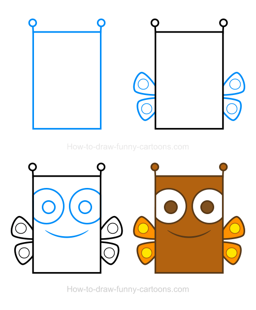 How to Draw a Butterfly Clipart