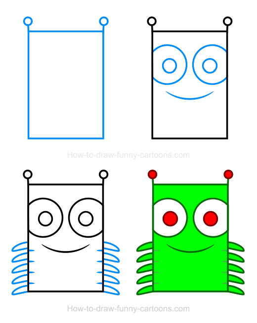 How to Draw a Caterpillar Clipart