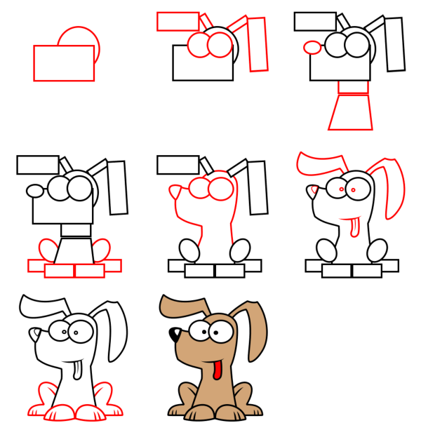 cartoon animals - Dog