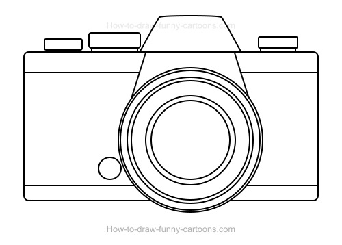 How to Draw A Cartoon Camera