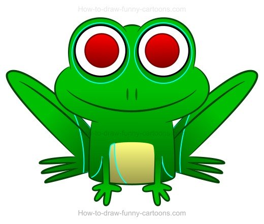 How to Draw A Cartoon Frog