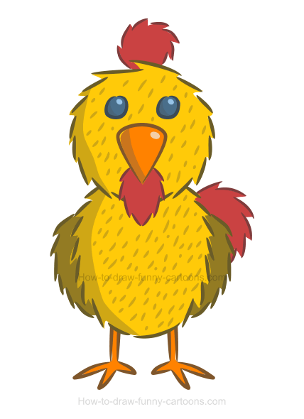 How to create a simple chicken illustration